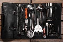 Set of barman equipment in case Stock Photos
