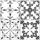 Set of Baroque Tiles Stock Images