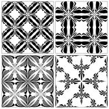 Set of Baroque Tiles Stock Photo