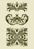 Set of baroque vector  ornaments for design Stock Photo