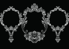 Set of Baroque Vintage Decoration Frames Royalty Free Stock Photography