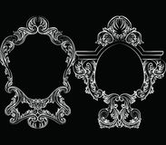 Set of Baroque Vintage Decoration Frames Royalty Free Stock Photos
