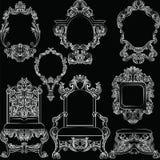 Set of Baroque Vintage Decoration Frames Stock Image