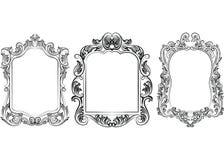 Set of Baroque Vintage Decoration Frames Royalty Free Stock Image