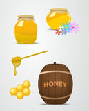 A set of barrels and cans apiary vector. Royalty Free Stock Photography