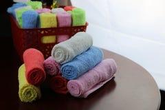 Set barwiący ręczniki Obrazy Royalty Free