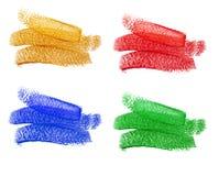 Set barwiący tła z akrylową farbą Zdjęcia Royalty Free