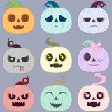 Set barwić Halloween banie emocjonalny magiczny hallowe ilustracja wektor