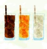 Set barwić szklane filiżanek plamy Obraz Royalty Free