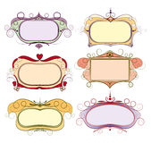 Set barwiąca rama royalty ilustracja