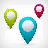Set barwiący mapa pointer Obrazy Stock