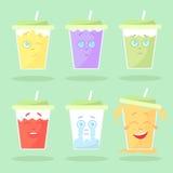 Set barwiona lemoniada z emocjami Zdjęcie Stock