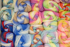 Set barwiona przędza Zdjęcia Stock