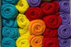 Set barwiona przędza Zdjęcie Royalty Free