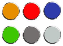 Set barwiona sieć zapina na białym tle Mieszkanie styl set round guzik dla twój strona internetowa projekta, logo, app, UI koloro ilustracji