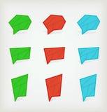 Set barwione ikony Obraz Royalty Free