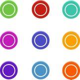 Set barwione kropki, round zapina, elementy dla sieć projekta ilustracji