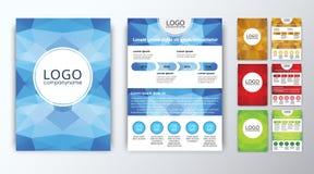 Set barwione poligonalne broszurki Zdjęcie Stock
