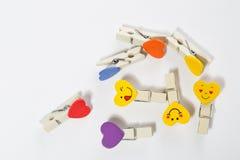 Set barwioni czopy z przyczepieniami Zdjęcie Royalty Free
