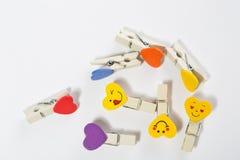 Set barwioni czopy z przyczepieniami Obraz Stock