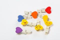 Set barwioni czopy z przyczepieniami Obrazy Stock