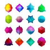 Set barwioni gemstones w geometrycznym stylu ilustracji