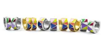 Set barwioni kolczyki Obrazy Stock