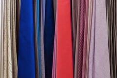Set barwioni krawaty Obrazy Royalty Free