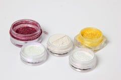 Set barwioni materiały dla gwoździa projekta Zdjęcia Stock