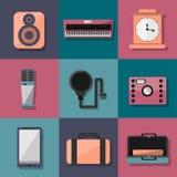 Set Barwioni przedmioty Obraz Royalty Free