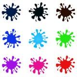 Set barwioni splatters Obraz Royalty Free
