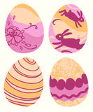 Set Barwioni Wielkanocni jajka Fotografia Royalty Free