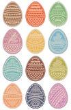 Set Barwioni Wielkanocni jajka również zwrócić corel ilustracji wektora royalty ilustracja