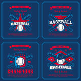 Set baseball badge, logo, emblem tournament. Royalty Free Stock Images