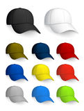 Set of Baseball caps. Computer illustration, isolated on the white Royalty Free Stock Photo
