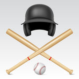 Set of baseball equipment Royalty Free Stock Image