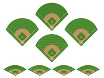 Set of Baseball Fields 2 Stock Photography