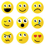 Set of basic emoticons Stock Photos