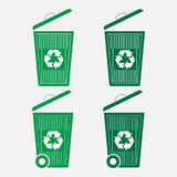 Set a basket of garbage, recycling royalty free illustration