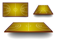 Set basketball court Royalty Free Stock Photo