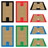 Set of Basketball Courts Stock Images
