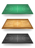 Set of basketball courts in different colours. . Royalty Free Stock Photos