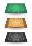 Set of basketball courts in different colours Stock Photo