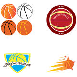 Set of basketball illustrations Royalty Free Stock Photos