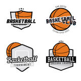 Set of basketball league / championship / tournament / club badges,. Labels, icons and design elements. Basketball themed t-shirt graphics Royalty Free Stock Image