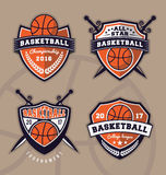 Set of basketball logo design Royalty Free Stock Images
