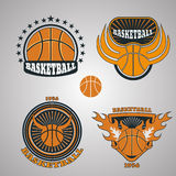 Set of basketball team emblem  eps 10 Stock Photos