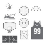 Set of Basketball vintage Design Elements Royalty Free Stock Photo