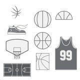 Set of Basketball vintage Design Elements Royalty Free Stock Photo