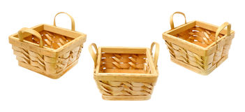 Set of baskets Royalty Free Stock Images